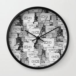 Robot Boxes Wall Clock