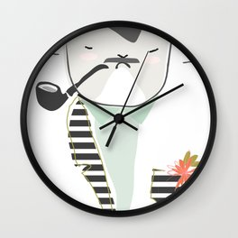 Monsieur Pops Wall Clock
