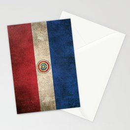 Old and Worn Distressed Vintage Flag of Paraguay Stationery Cards