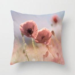 #Pink #Poppie #fine #art Throw Pillow