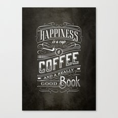 Coffee - Typography Canvas Print
