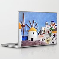 greek Laptop & iPad Skins featuring Greek island by Brian Raggatt