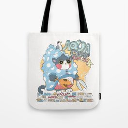 Aqua cat_Puno Tote Bag