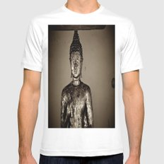 Meditation White MEDIUM Mens Fitted Tee