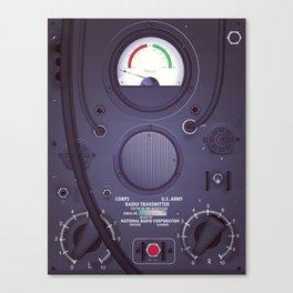 Vintage US Army Radio Transmitter Canvas Print