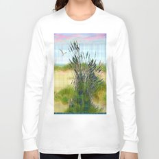 Plaid Beachscape with Seagrass Long Sleeve T-shirt
