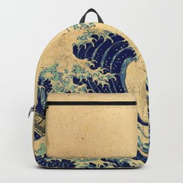 Hokusai parchment Backpack