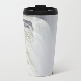 Mist Rising up from Gullfoss Waterfall in Iceland Travel Mug