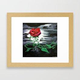Rose from Rubble Framed Art Print