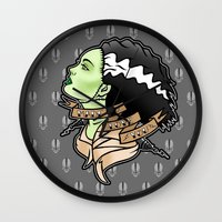 bride Wall Clocks featuring bride by Andrew Mark Hunter