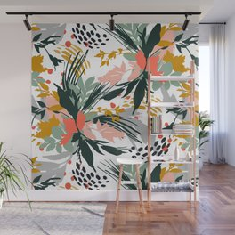 Botanical brush strokes I Wall Mural