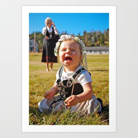 Happy baby Art Print