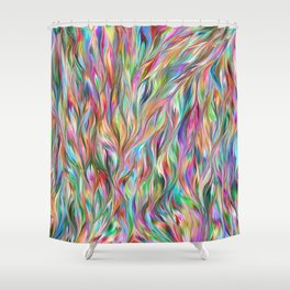 Abstract painting color texture 2 Shower Curtain