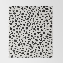 Polka Dots Dalmatian Spots Throw Blanket