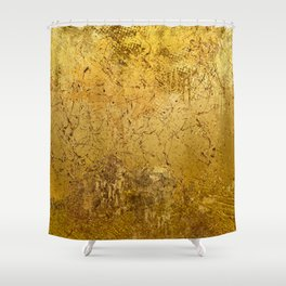 Gold texture Shower Curtain