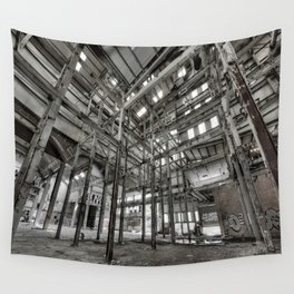 Metallic Structures Wall Tapestry