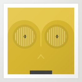 Minimalistic C3PO Art Print