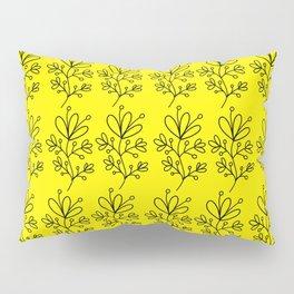 Yellow Floral Print Pillow Sham