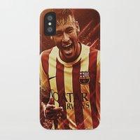 neymar iPhone & iPod Cases featuring Neymar Jr  by Max Hopmans / FootWalls