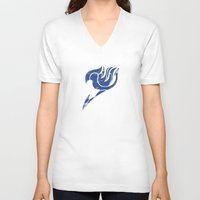 fairy tail V-neck T-shirts featuring Fairy Tail Segmented Logo Erza by JoshBeck