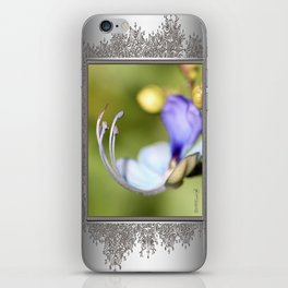 Clerodendrum Ugandense or Blue Butterfly Bush iPhone Skin