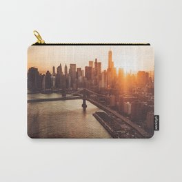 nyc aerial view Carry-All Pouch