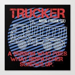 Trucker Definition Canvas Print