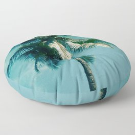 Niu Hawaiian Tropical Coconut Palm Tree Keanae Maui Hawaii Floor Pillow