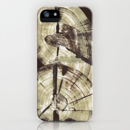 Concentric Log Abstract iPhone Case