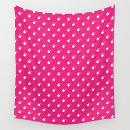 HOT PINK & WHITE BOMB DIGGITYS ALL OVER LARGE Wall Tapestry