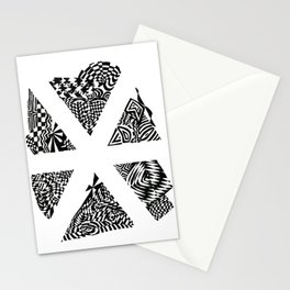 Asterisk, Black/White Abstract (ink drawing) Stationery Cards