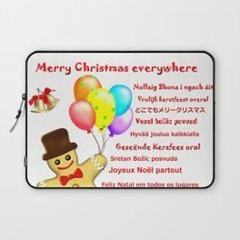 Merry Christmas everywhere Laptop Sleeve