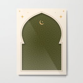 Mihrab - Olive Metal Print