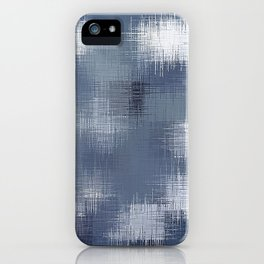 grey and black plaid pattern iPhone Case