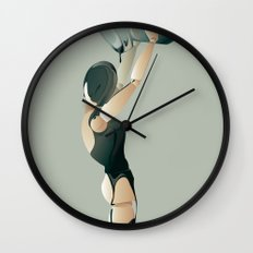 PAINTED BLACK Wall Clock