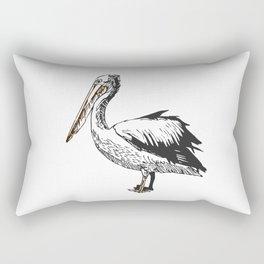 Pelican Feeding Rectangular Pillow