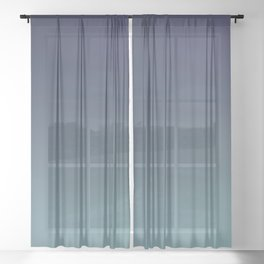 NIGHT SWIM - Minimal Plain Soft Mood Color Blend Prints Sheer Curtain