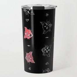 Demon Cats Travel Mug