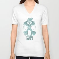 yeti V-neck T-shirts featuring Yeti by gajuscd