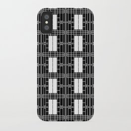 Black and White Brick iPhone Case