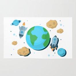 Flying Around Earth Rug