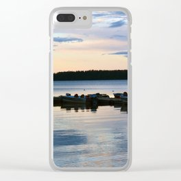 Pastel Dockside Clear iPhone Case