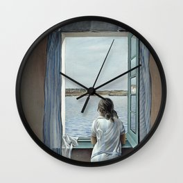 Salvador Dali Young Woman at a Window 1925 Artwork for Wall Art, Prints, Posters, Tshirts, Mwn, Women, Youth Wall Clock