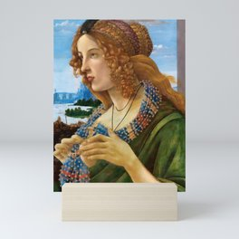 """Sandro Botticelli """"Allegorical Portrait of a Lady (Simonetta Vespucci ?)"""" Mini Art Print"""