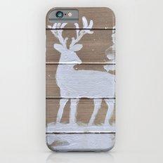 Wood slat deer in the snowy woods Slim Case iPhone 6s