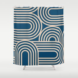 Abstraction_WAVE_GRAPHIC_VISUAL_ART_Minimalism_001 Shower Curtain