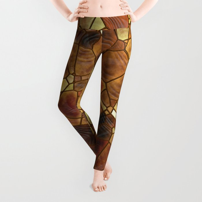 Stained Glass - Copper Leggings