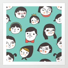 Pattern Project #1 / Faces Art Print