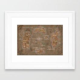 WoW map Framed Art Print