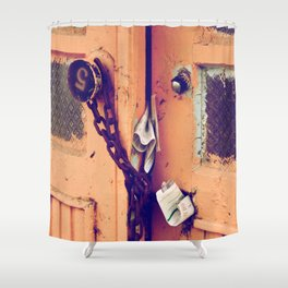 old vintage door  Shower Curtain
